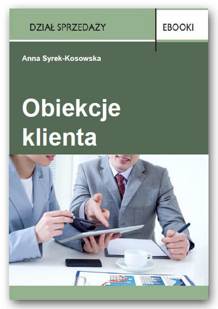 Obiekcje klienta - Ebook (Książka PDF) do pobrania w formacie PDF