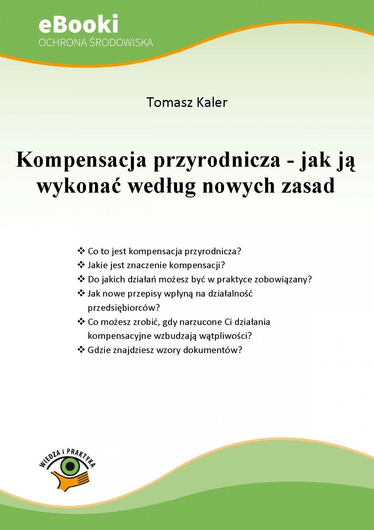 Kompensacja przyrodnicza - jak ją wykonać według nowych zasad - Ebook (Książka PDF) do pobrania w formacie PDF