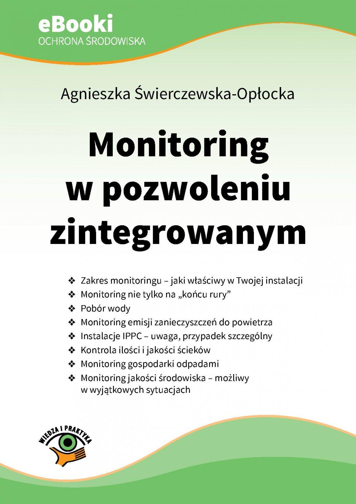 Monitoring w pozwoleniu zintegrowanym - Ebook (Książka PDF) do pobrania w formacie PDF
