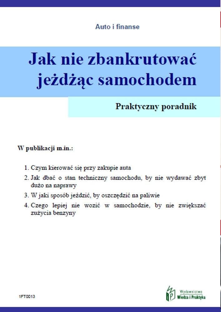 Jak nie zbankrutować jeżdżąc samochodem - Ebook (Książka PDF) do pobrania w formacie PDF