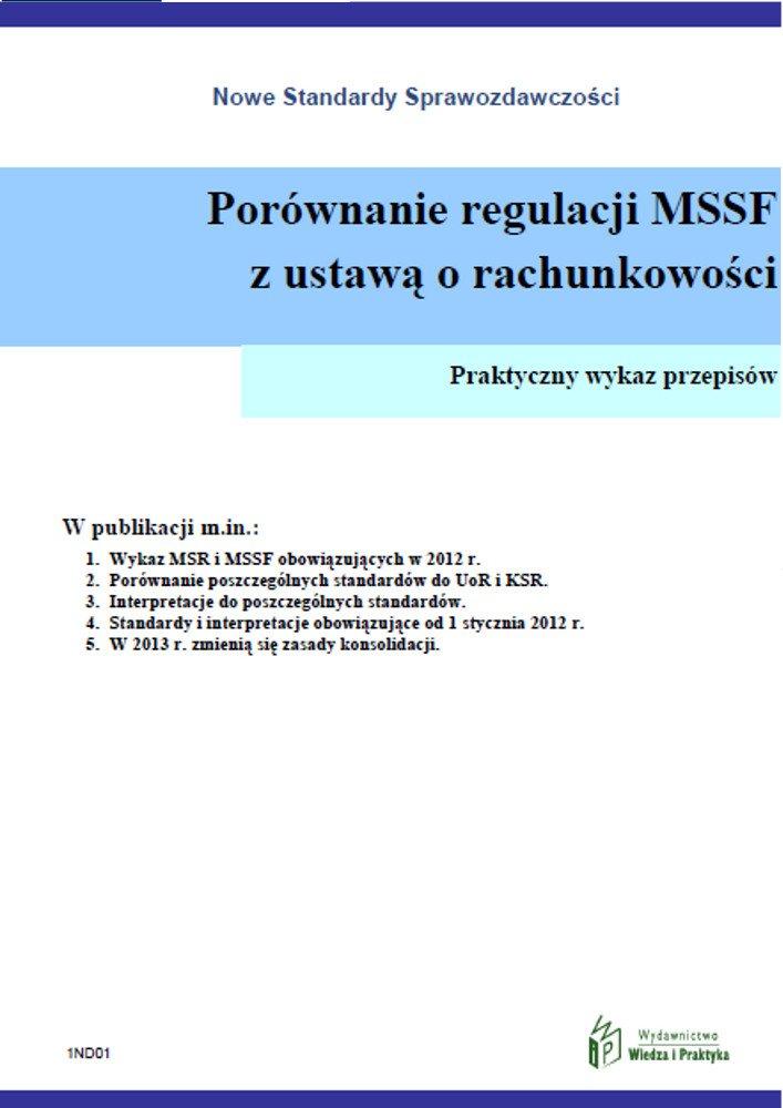 Porównanie regulacji MSSF z ustawą o rachunkowości - Ebook (Książka PDF) do pobrania w formacie PDF