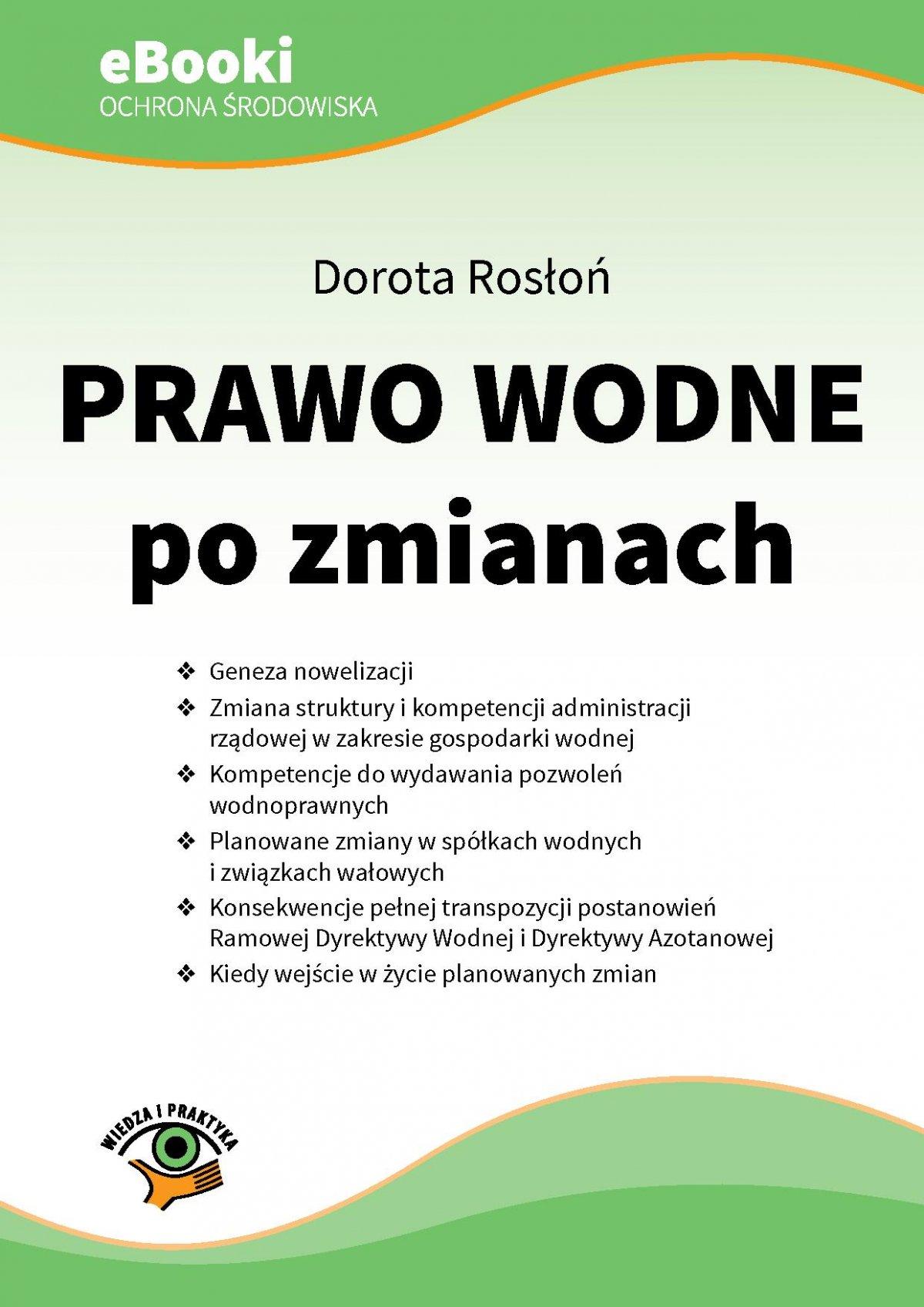 Prawo wodne po zmianach - Ebook (Książka PDF) do pobrania w formacie PDF