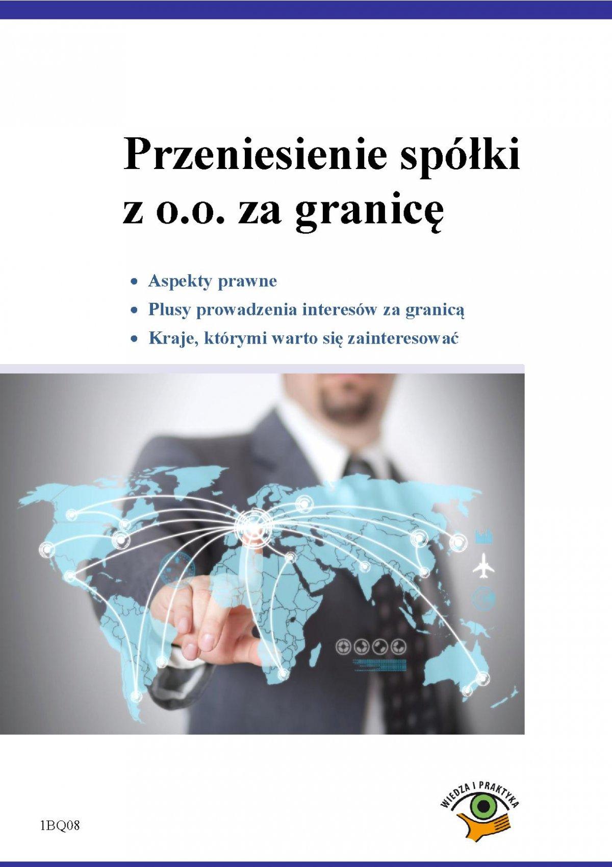 Przeniesienie spółki z o.o. za granicę - Ebook (Książka PDF) do pobrania w formacie PDF