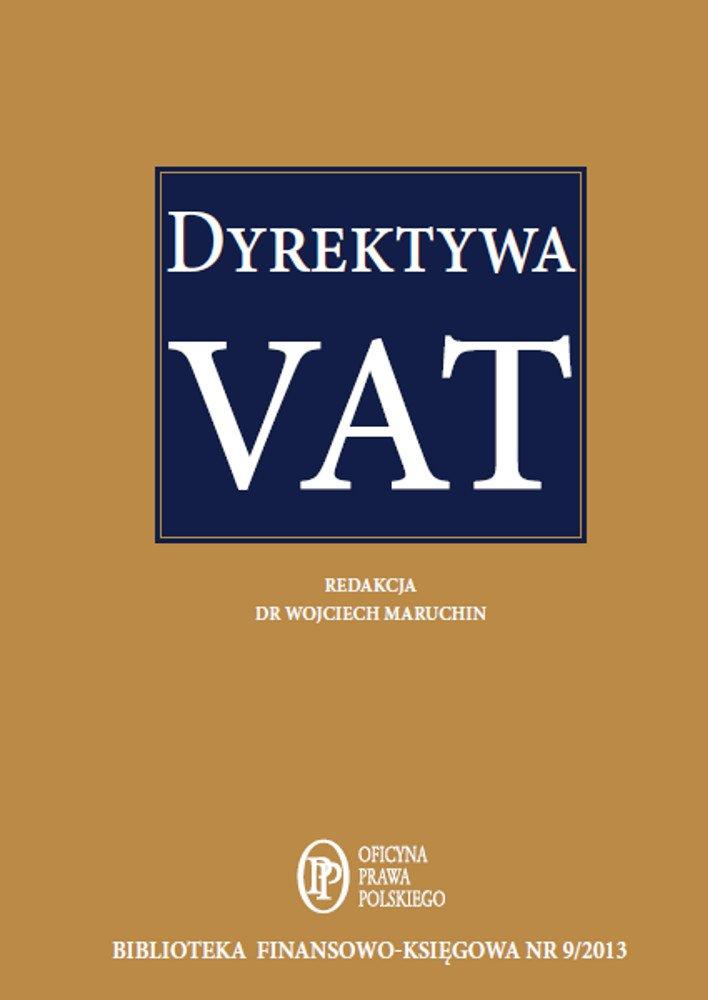 Dyrektywa VAT - Ebook (Książka PDF) do pobrania w formacie PDF