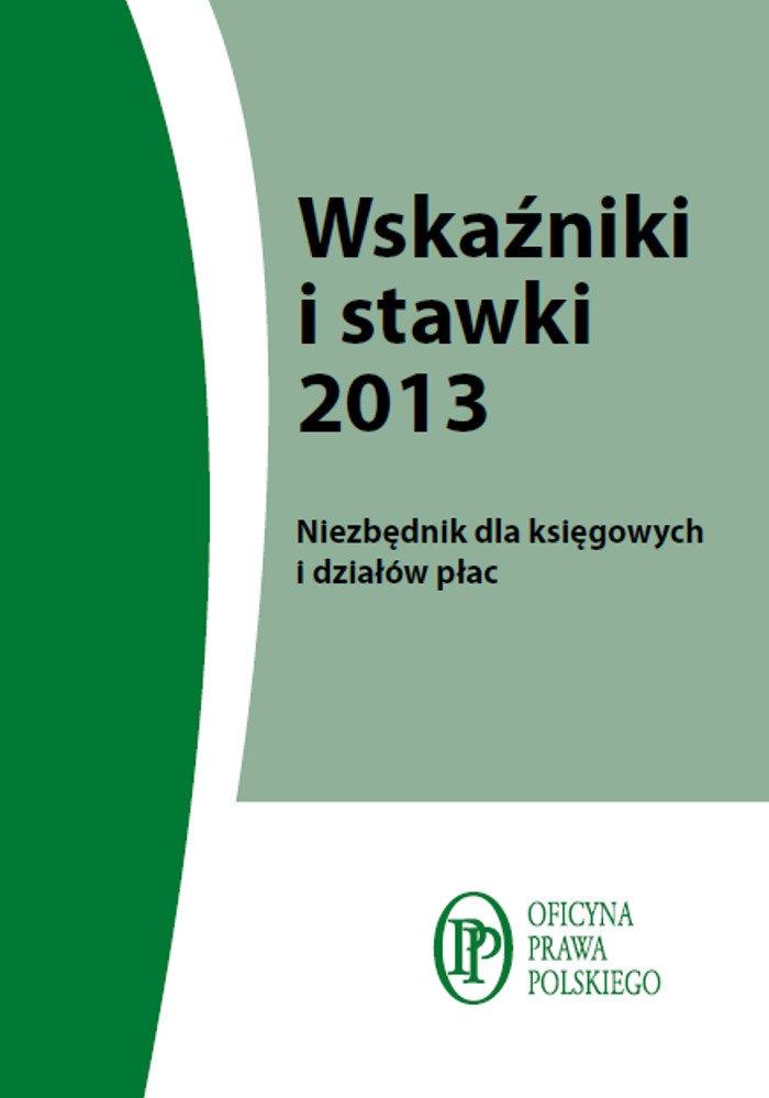 Wskaźniki i stawki 2013 - Ebook (Książka PDF) do pobrania w formacie PDF