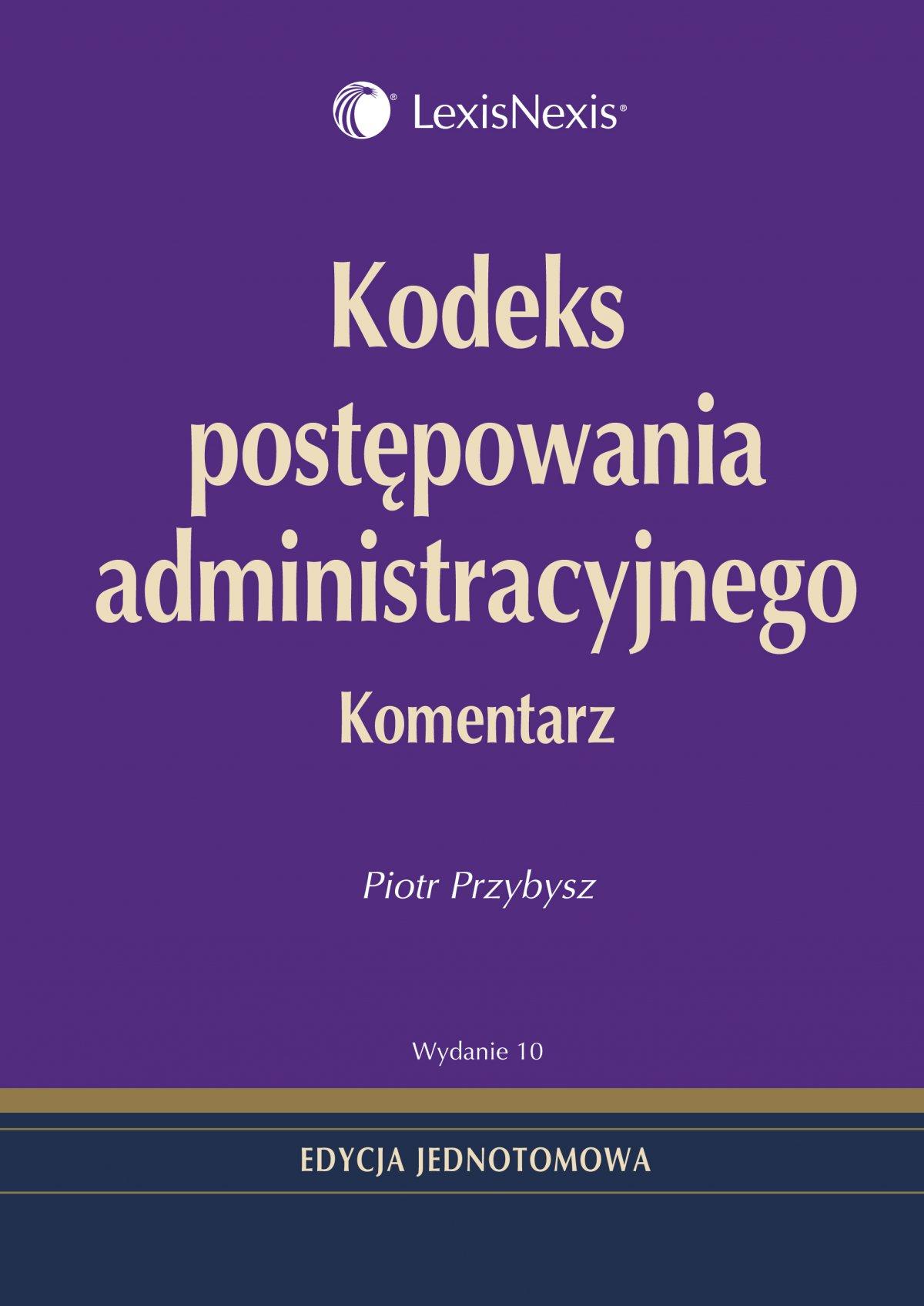 Kodeks postępowania administracyjnego. Komentarz - Ebook (Książka EPUB) do pobrania w formacie EPUB