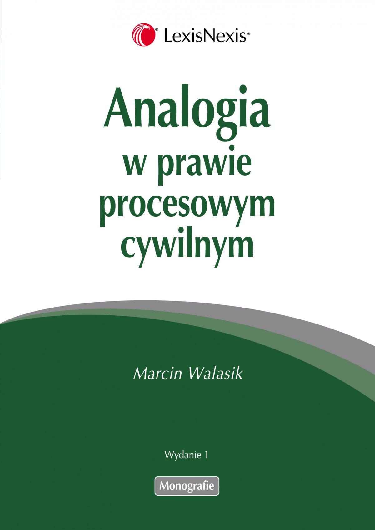 Analogia w prawie procesowym cywilnym - Ebook (Książka EPUB) do pobrania w formacie EPUB
