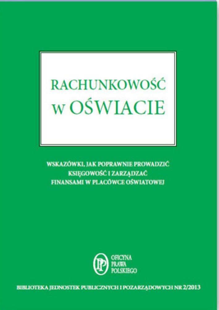 Rachunkowość w oświacie - Ebook (Książka PDF) do pobrania w formacie PDF