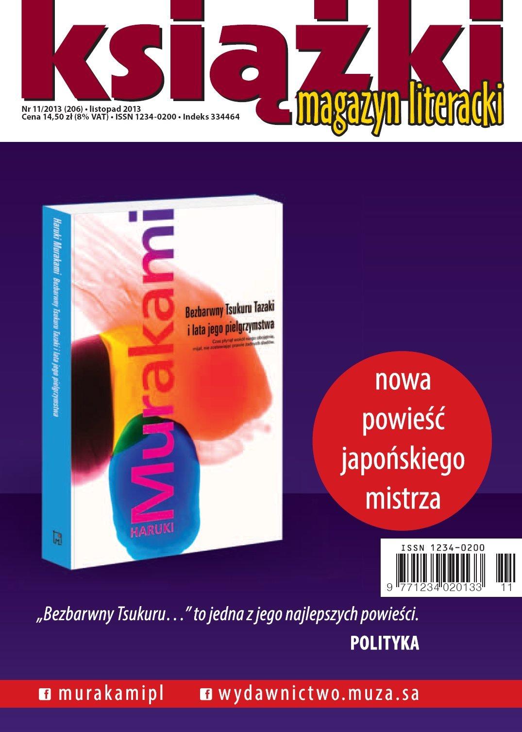 Magazyn Literacki KSIĄŻKI nr 11/2013 - Ebook (Książka PDF) do pobrania w formacie PDF