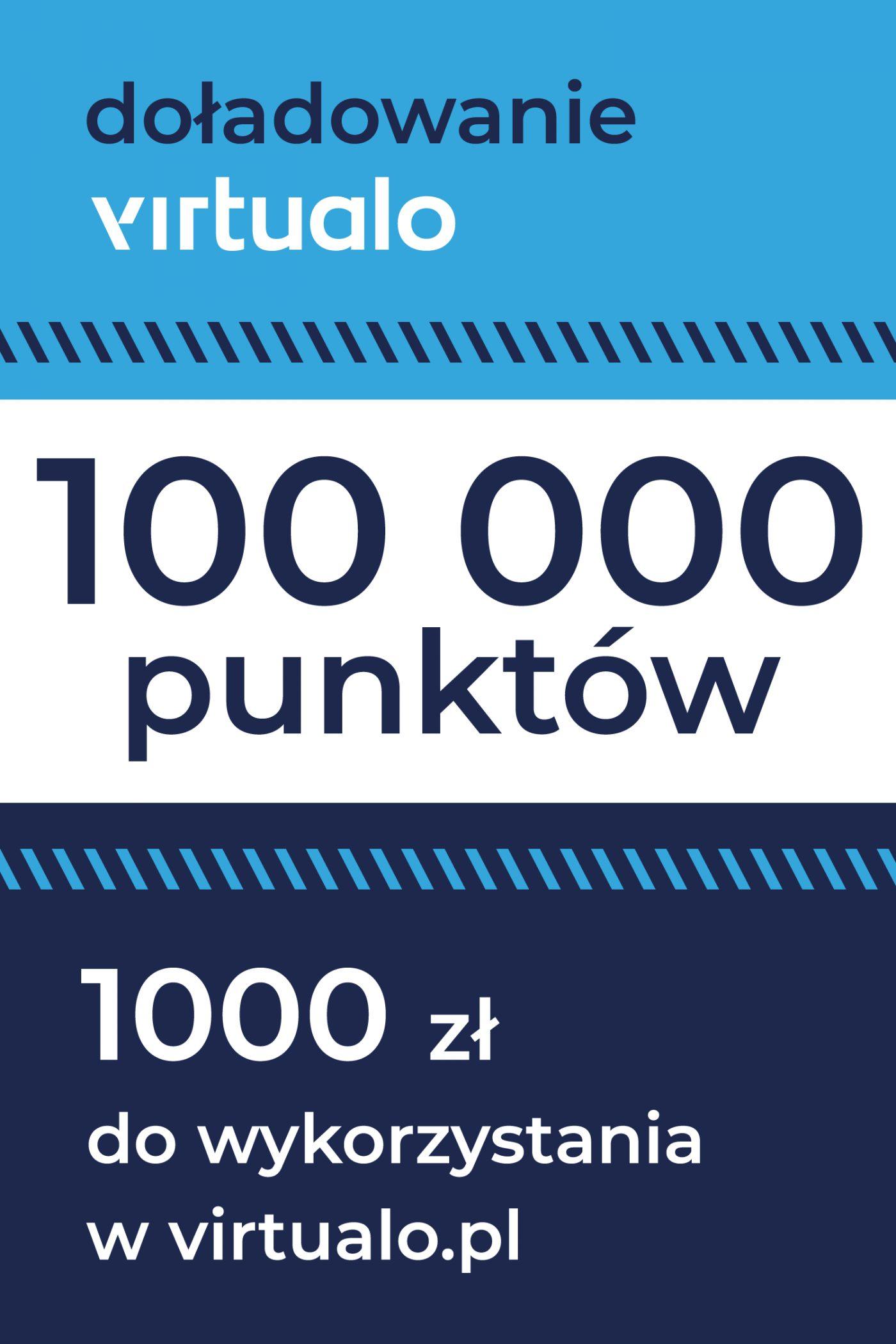 Doładowanie punktów Virtualo - 100000 punktów -