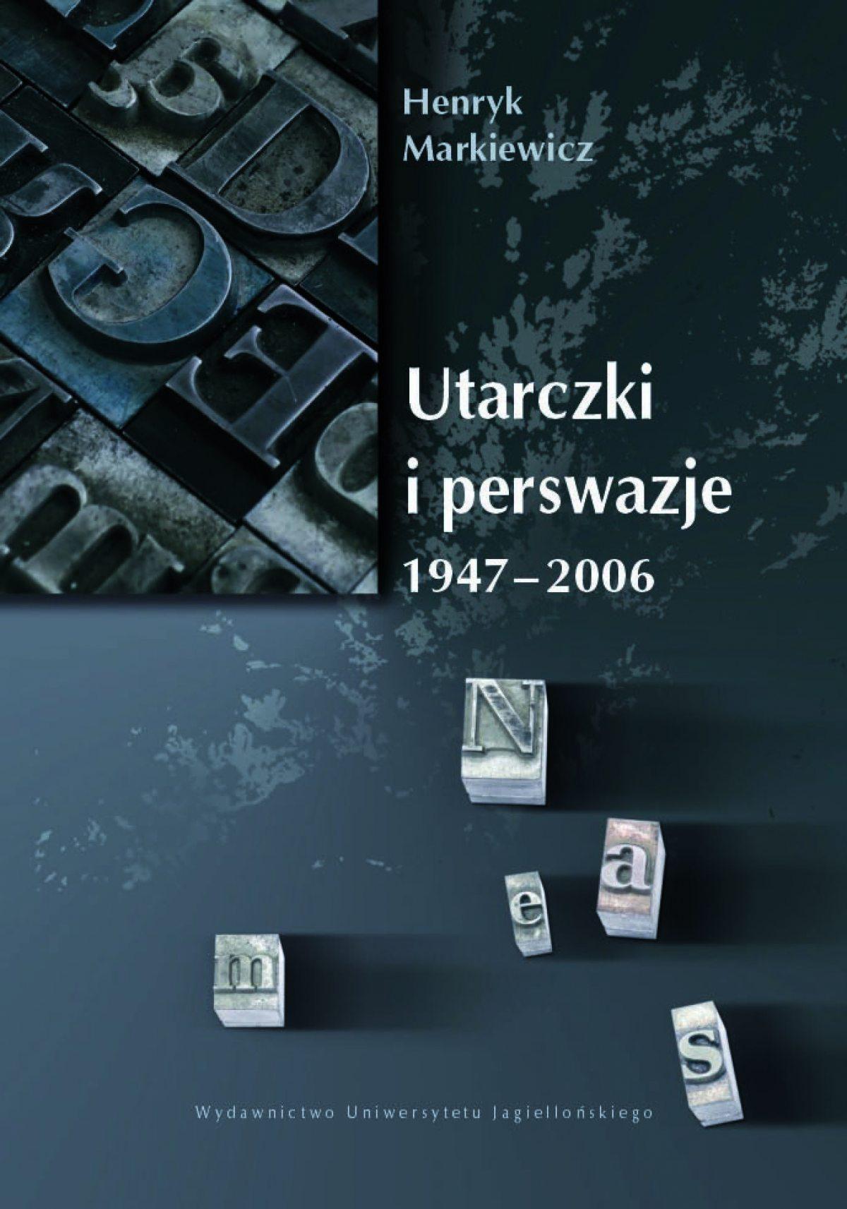Utarczki i perswazje. 1947-2006 - Ebook (Książka PDF) do pobrania w formacie PDF
