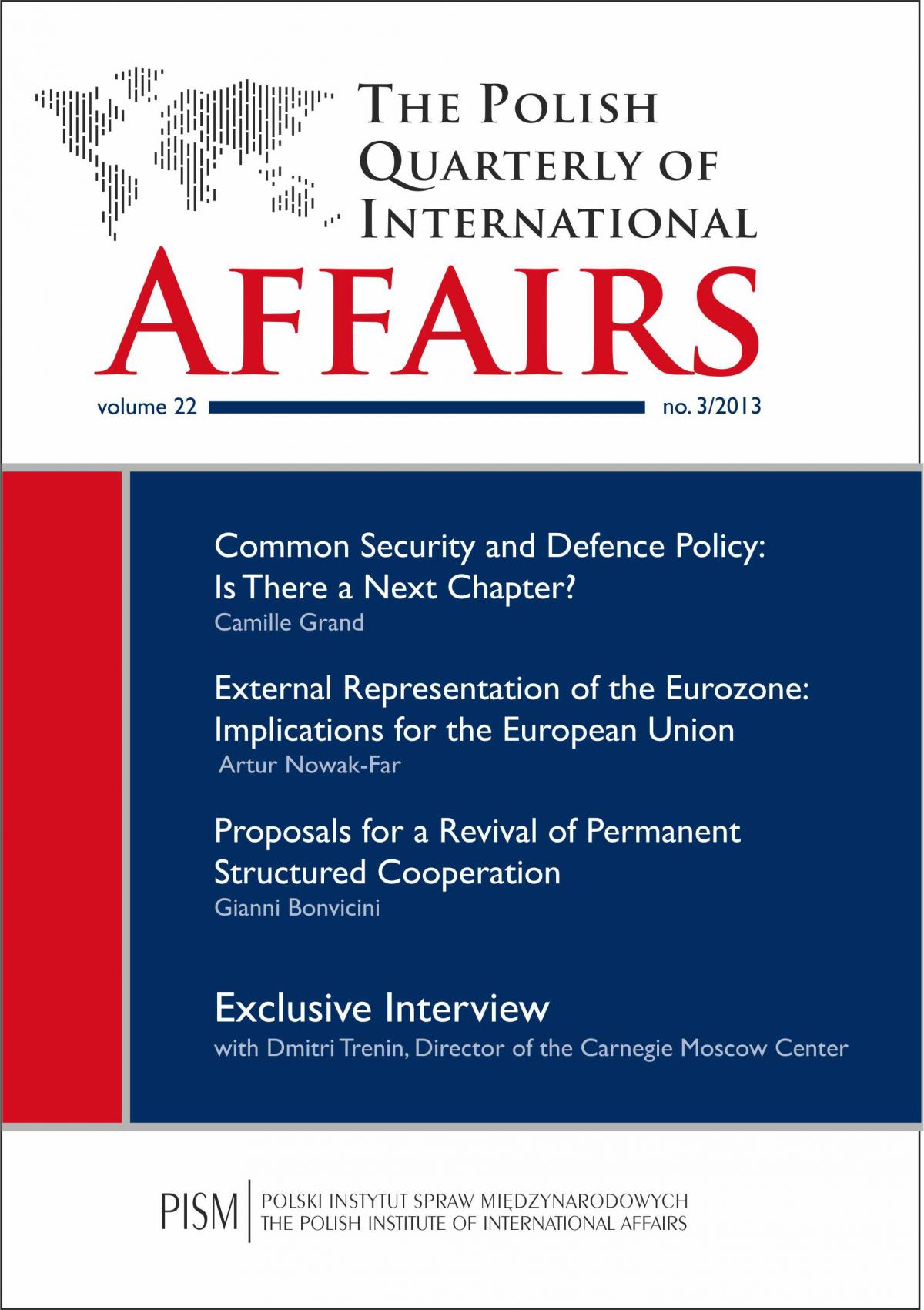 The Polish Quarterly of International Affairs 3/2013 - Ebook (Książka PDF) do pobrania w formacie PDF