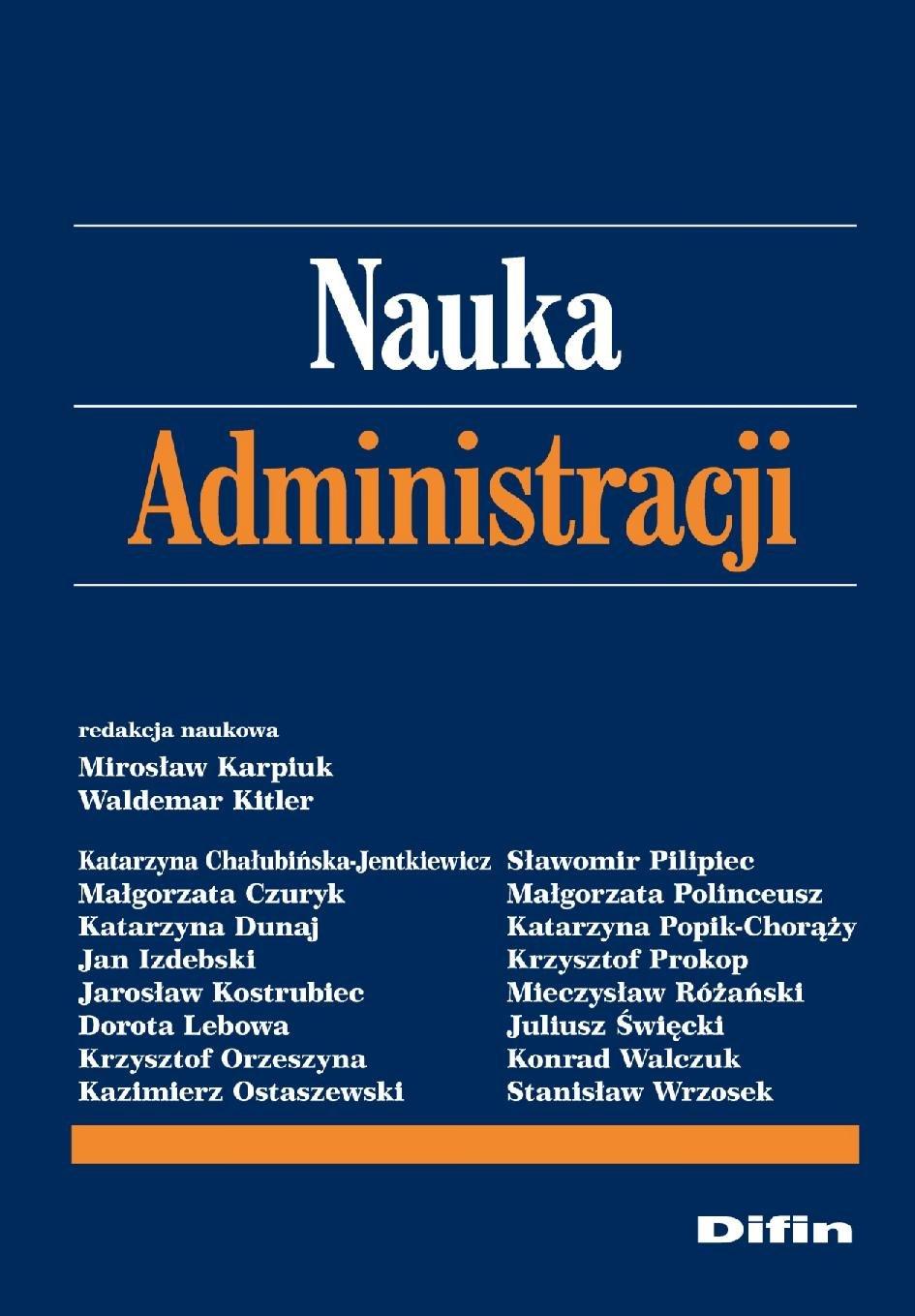 Nauka administracji - Ebook (Książka PDF) do pobrania w formacie PDF