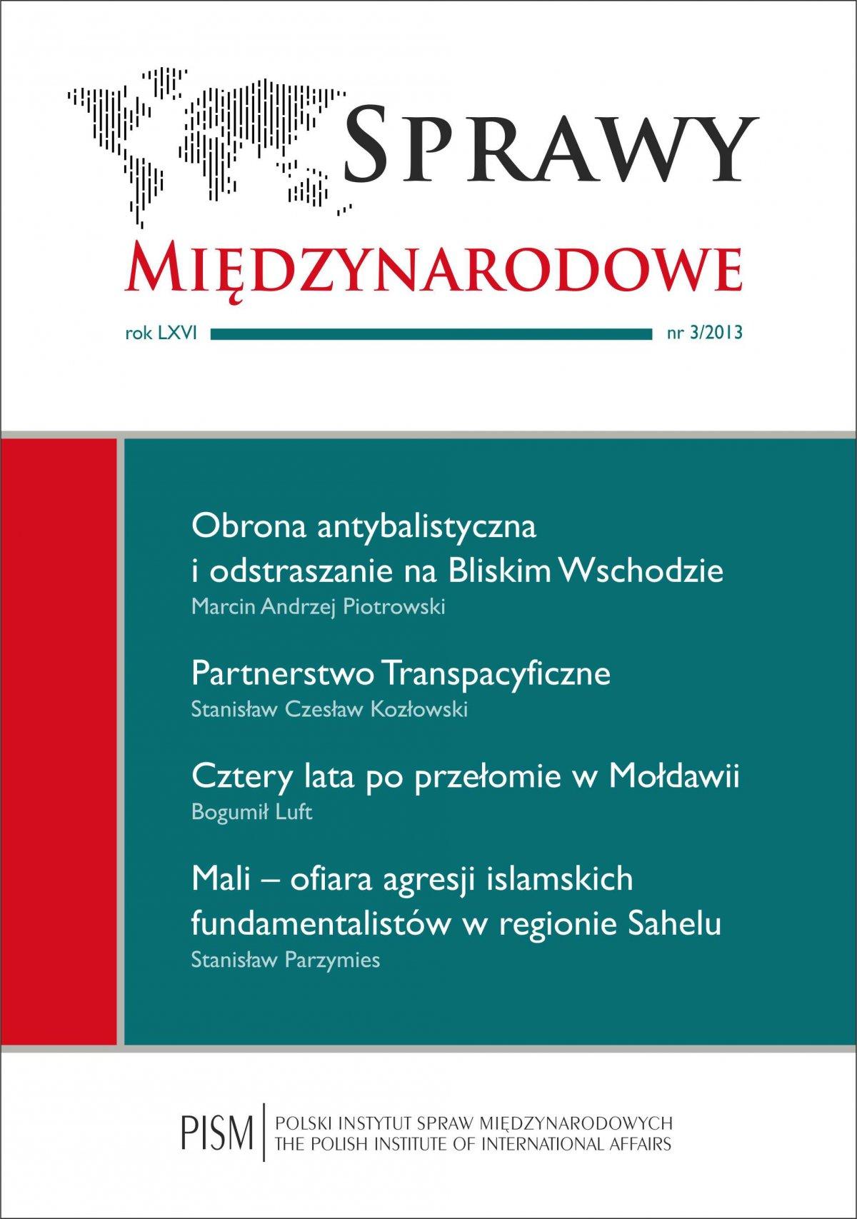 Sprawy Międzynarodowe 3/2013 - Ebook (Książka PDF) do pobrania w formacie PDF