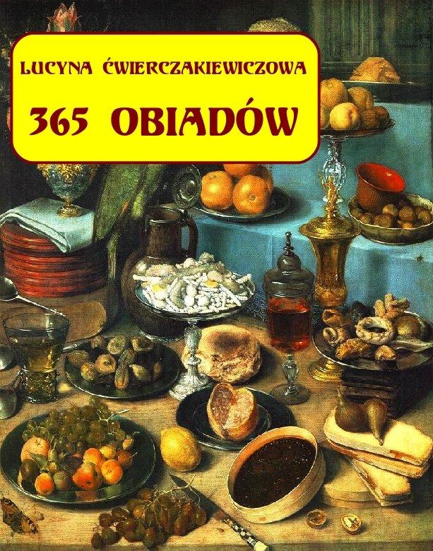 365 obiadów + jadłospis na cały rok - Ebook (Książka EPUB) do pobrania w formacie EPUB