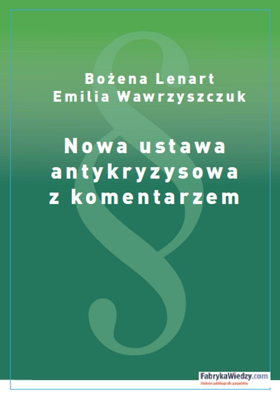 Nowa ustawa antykryzysowa z komentarzem - Ebook (Książka PDF) do pobrania w formacie PDF