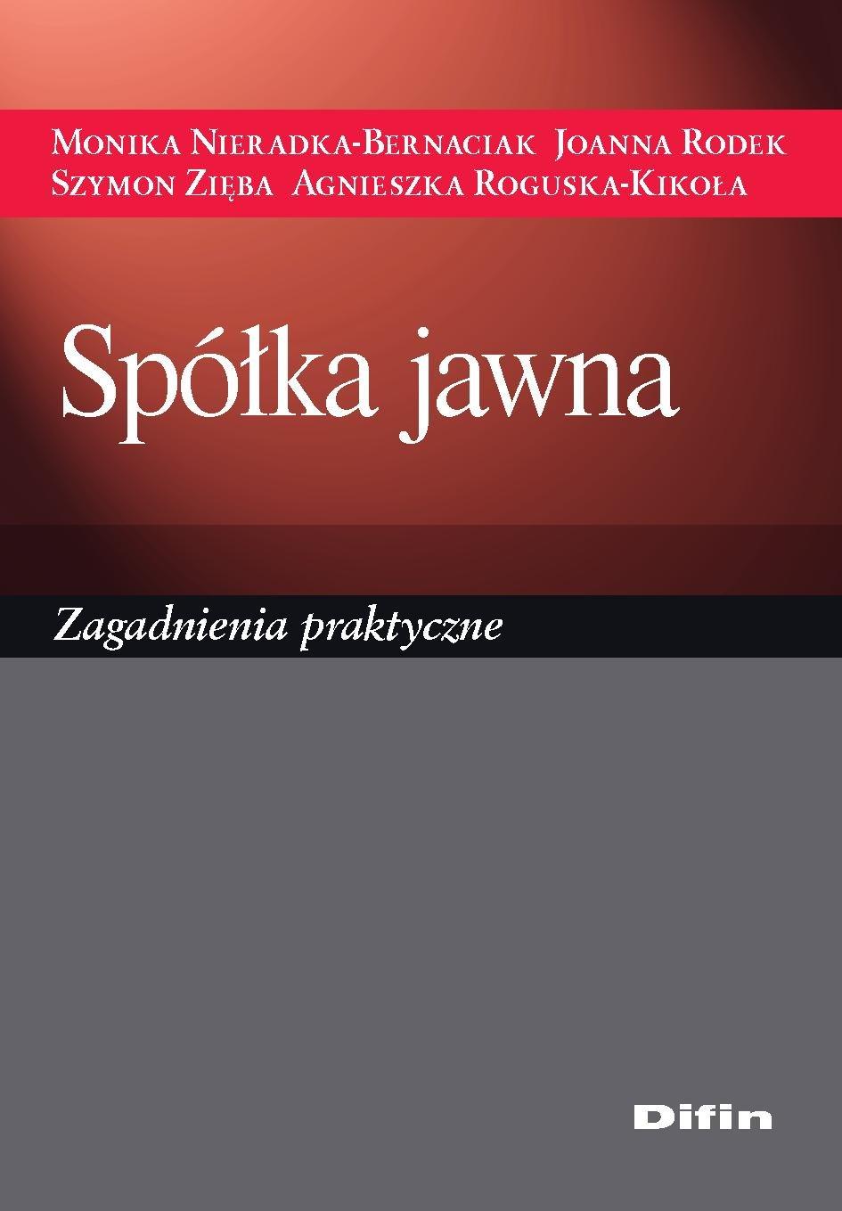 Spółka jawna. Zagadnienia praktyczne - Ebook (Książka PDF) do pobrania w formacie PDF