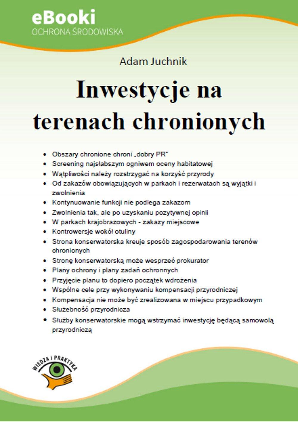 Inwestycje na terenach chronionych - Ebook (Książka PDF) do pobrania w formacie PDF