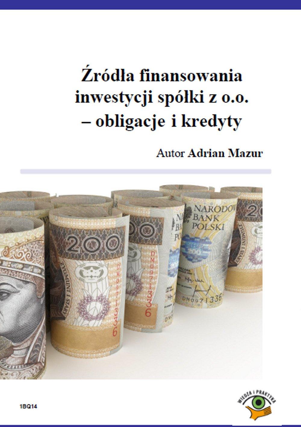 Źródła finansowania inwestycji spółki z o.o. - obligacje i kredyty - Ebook (Książka PDF) do pobrania w formacie PDF