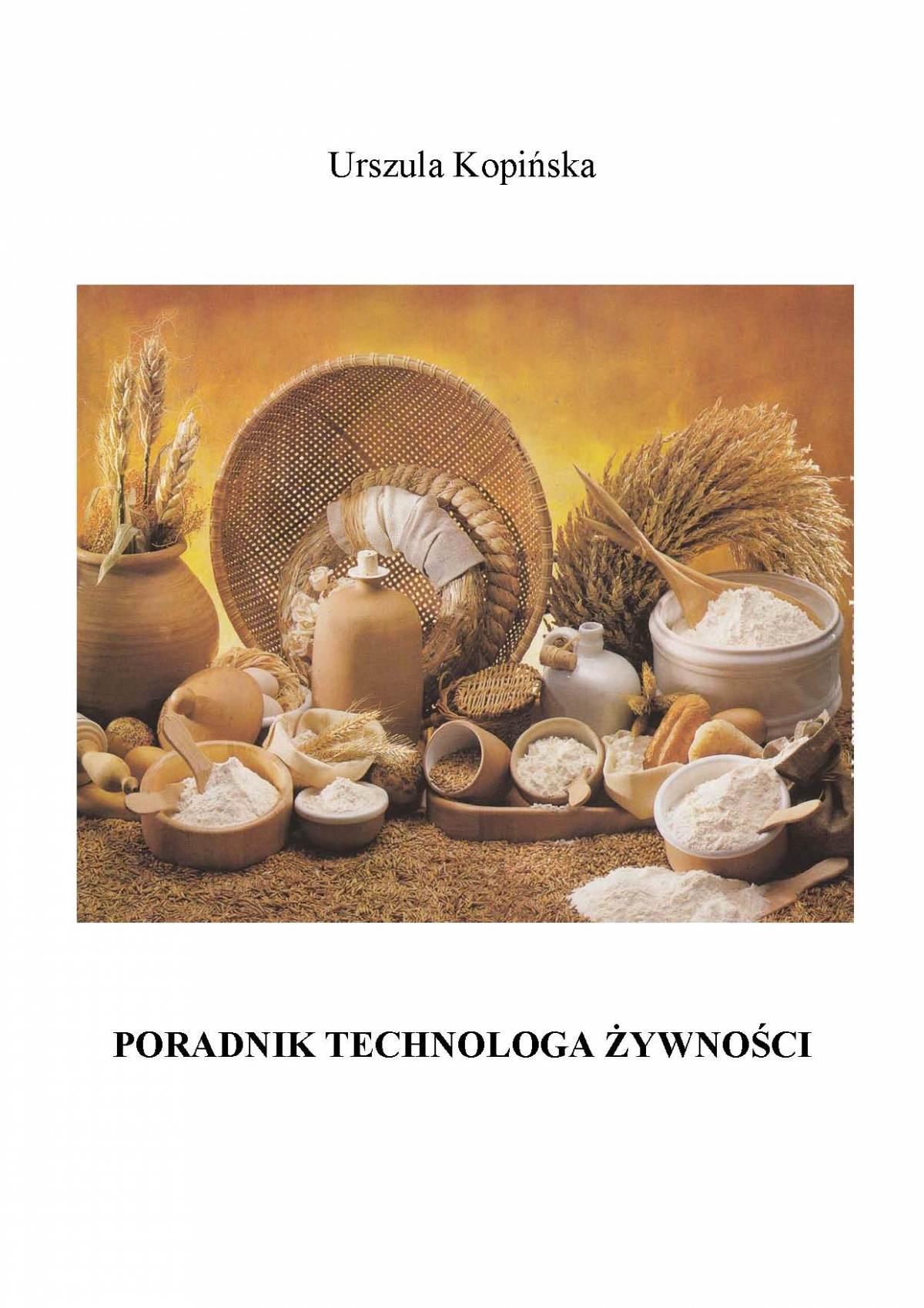 Poradnik technologa żywności - Ebook (Książka EPUB) do pobrania w formacie EPUB