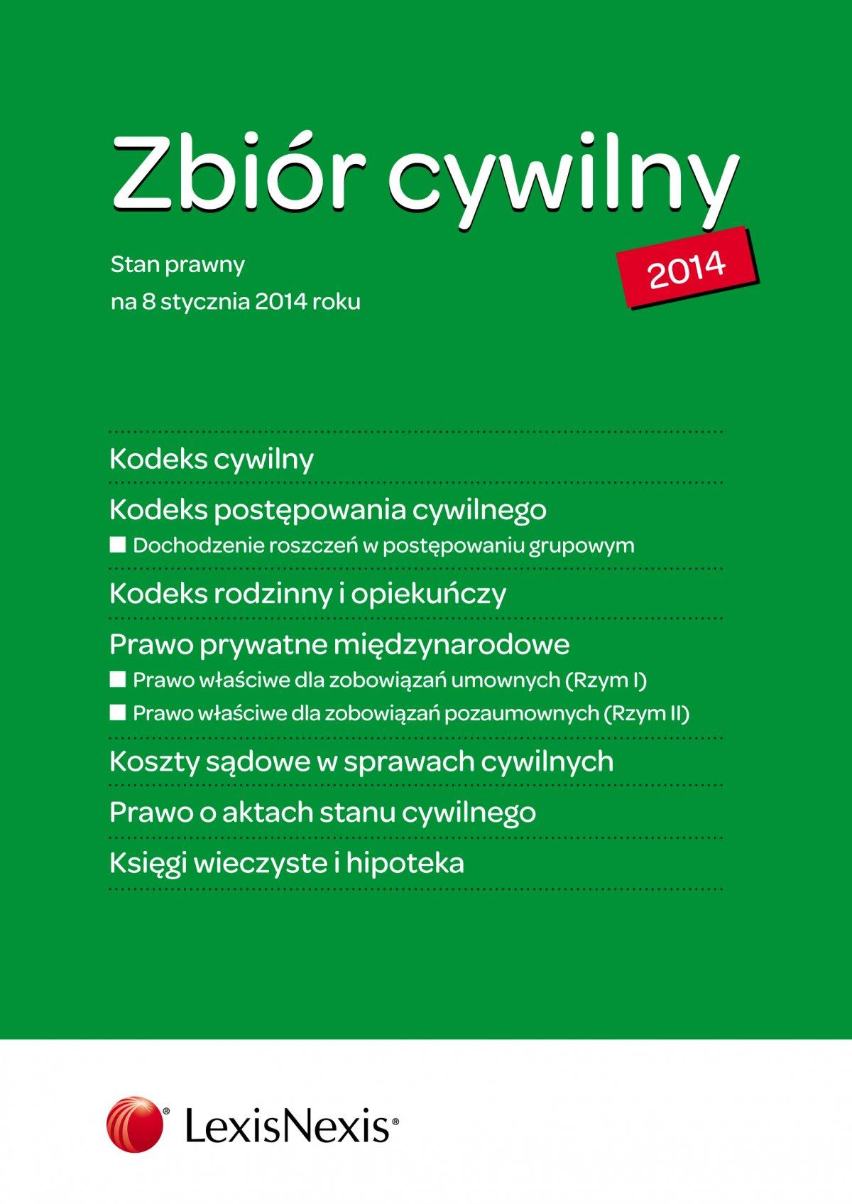 Zbiór cywilny 2014. Wydanie 1 - Ebook (Książka EPUB) do pobrania w formacie EPUB