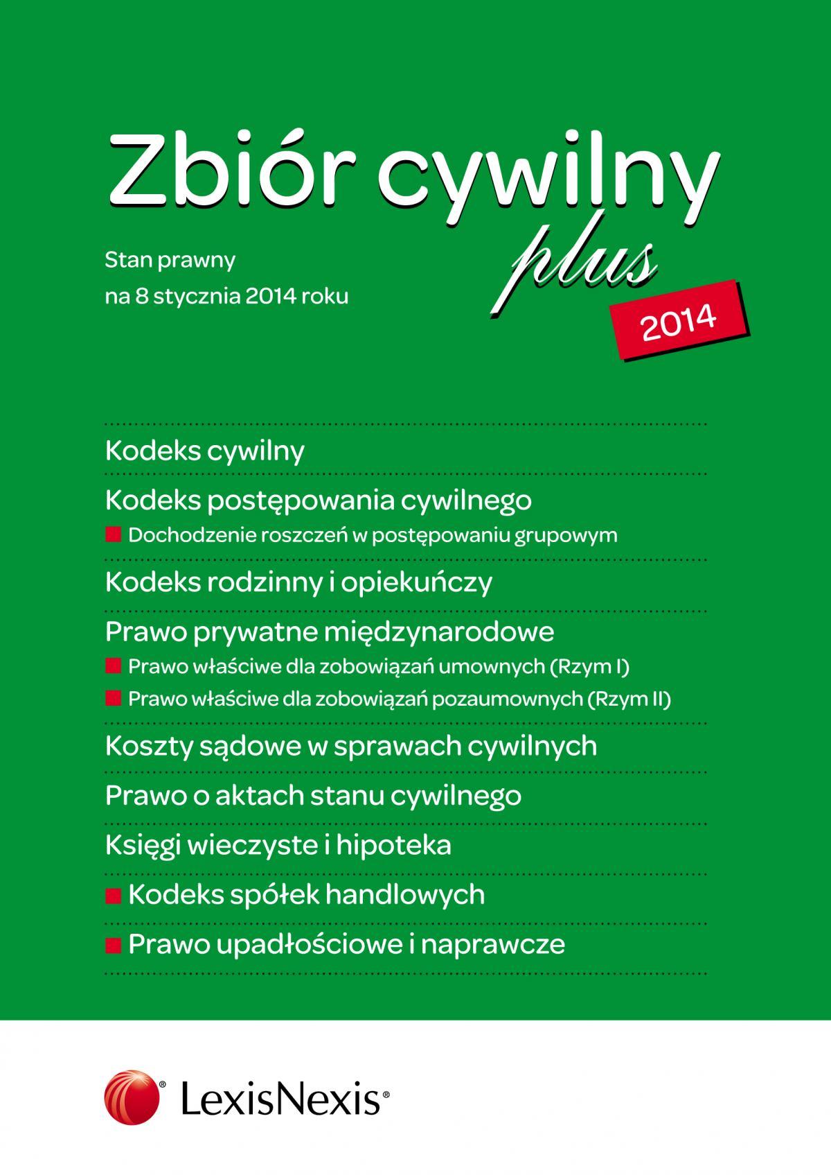 Zbiór cywilny PLUS 2014. Wydanie 1 - Ebook (Książka EPUB) do pobrania w formacie EPUB
