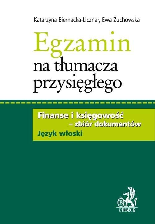 Egzamin na tłumacza przysięgłego. Finanse i księgowość - zbiór dokumentów w języku włoskim - Ebook (Książka PDF) do pobrania w formacie PDF
