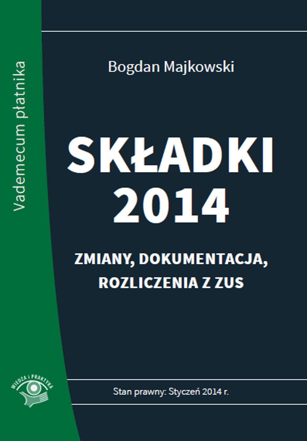 Składki 2014 - Ebook (Książka EPUB) do pobrania w formacie EPUB