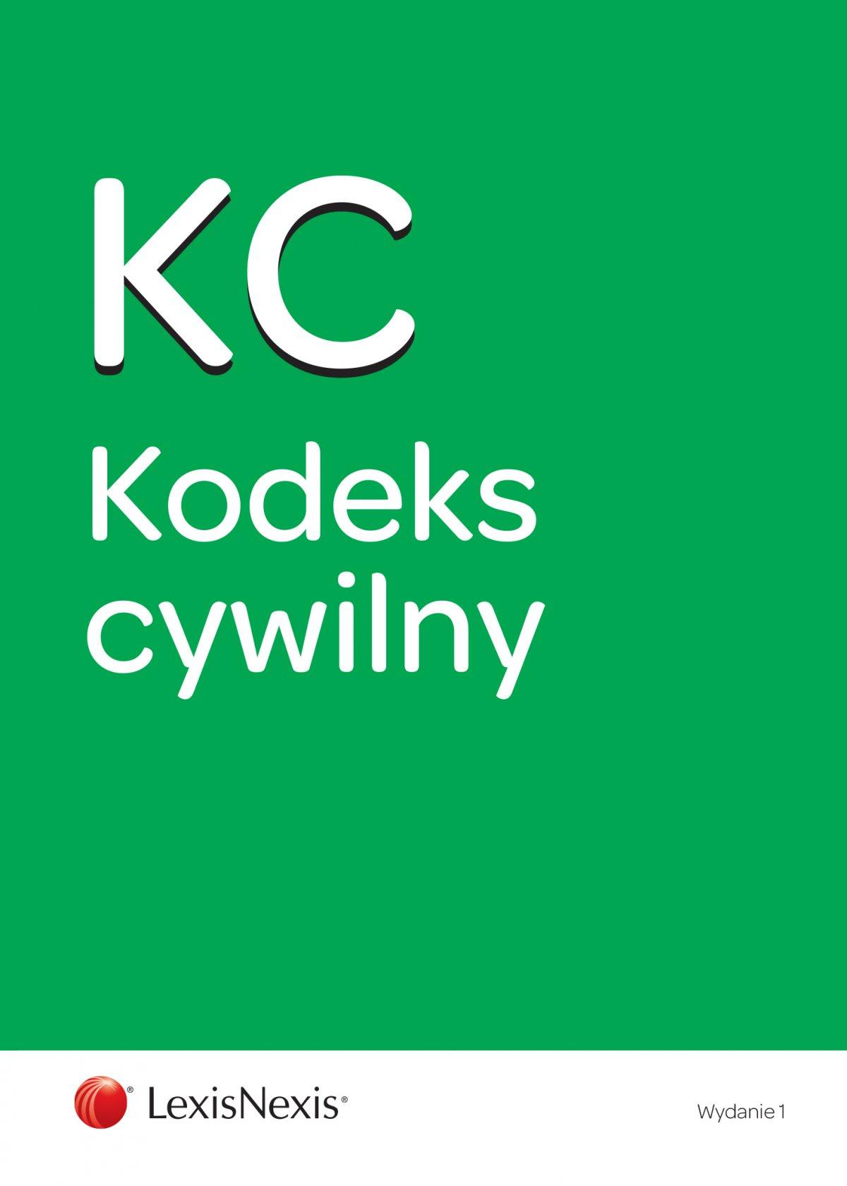 Kodeks cywilny. Wydanie 1 - Ebook (Książka EPUB) do pobrania w formacie EPUB