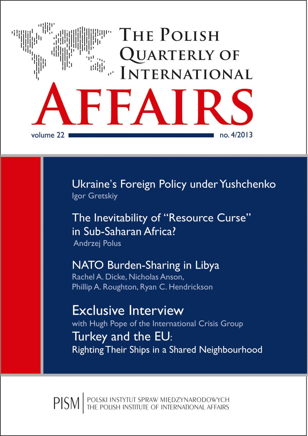 The Polish Quarterly of International Affairs 4/2013 - Ebook (Książka na Kindle) do pobrania w formacie MOBI