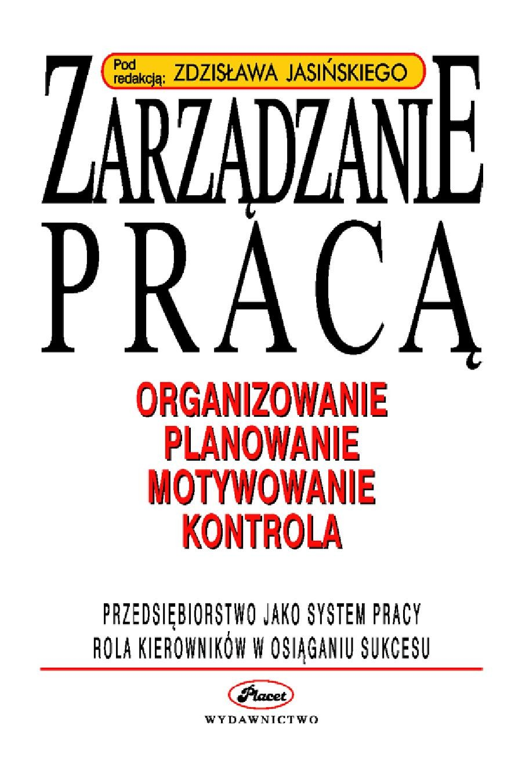 Zarządzanie pracą - Ebook (Książka PDF) do pobrania w formacie PDF
