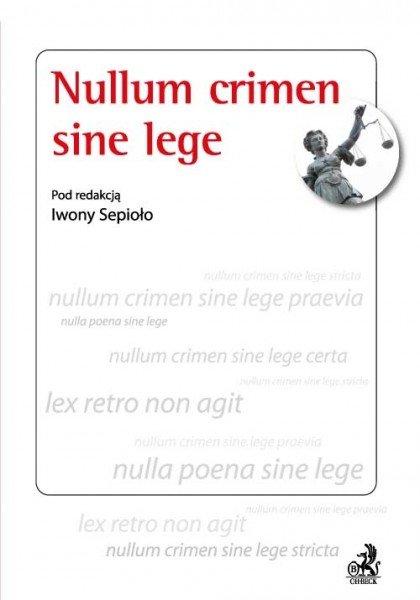Nullum crimen sine lege - Ebook (Książka PDF) do pobrania w formacie PDF