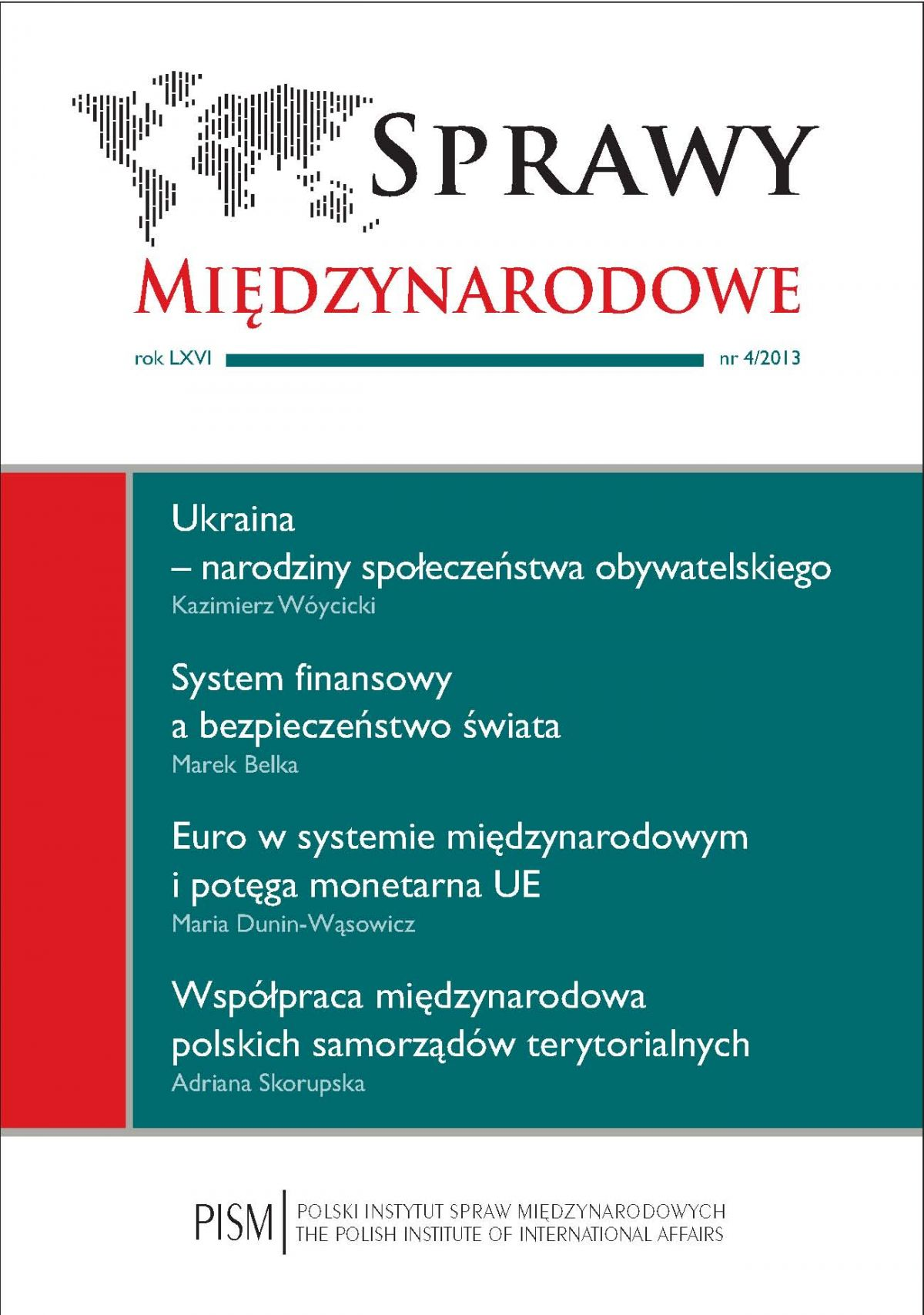 Sprawy Międzynarodowe 4/2013 - Ebook (Książka PDF) do pobrania w formacie PDF