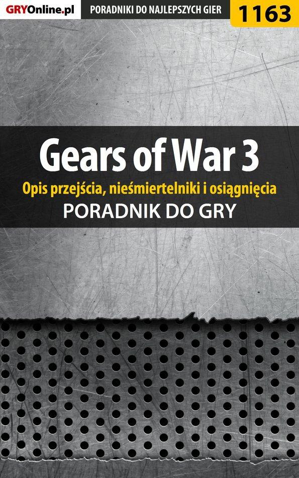 Gears of War 3 - poradnik do gry (opis przejścia, nieśmiertelniki, osiągnięcia) - Ebook (Książka EPUB) do pobrania w formacie EPUB