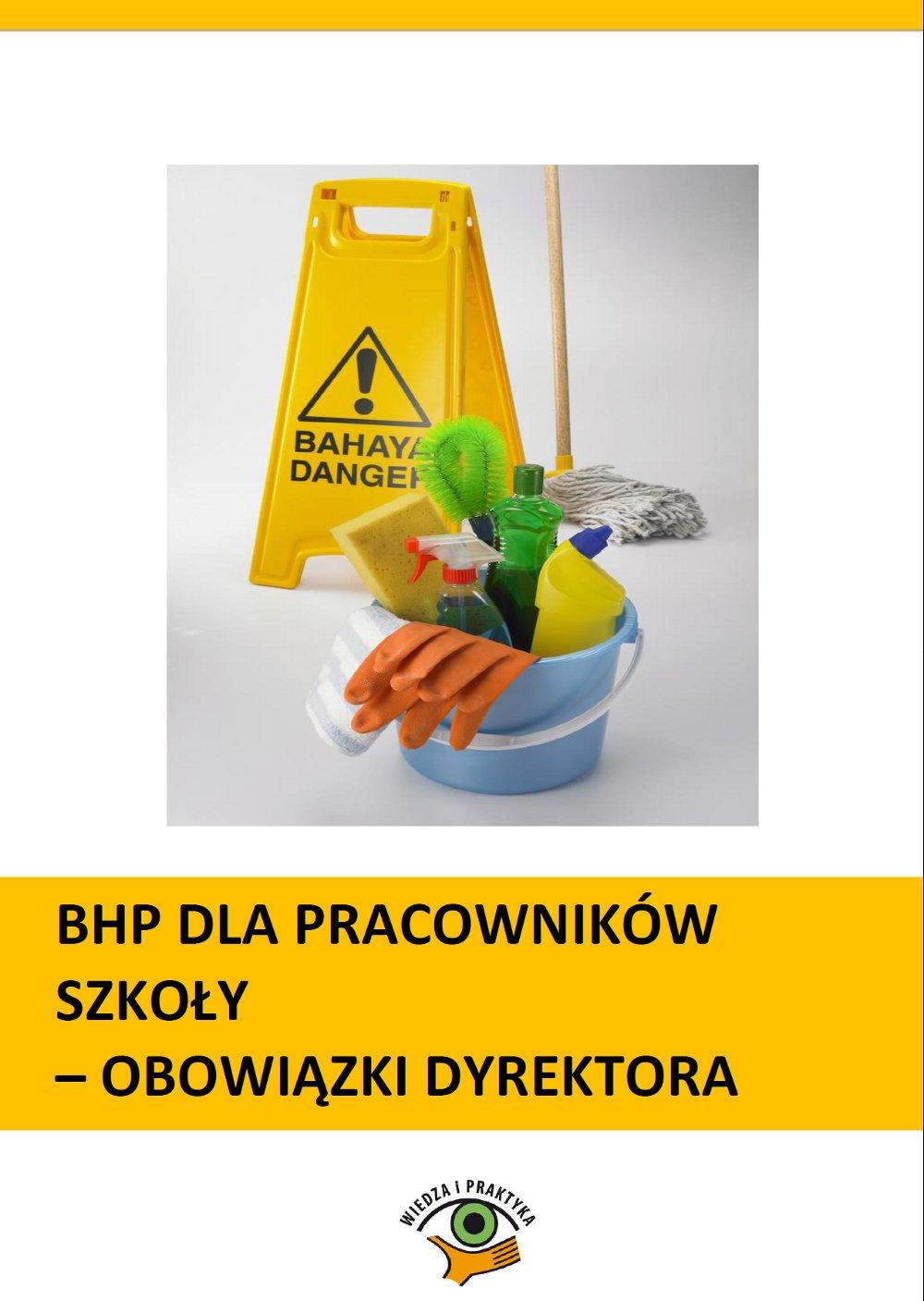 BHP dla pracowników szkoły - obowiązki dyrektora - Ebook (Książka PDF) do pobrania w formacie PDF