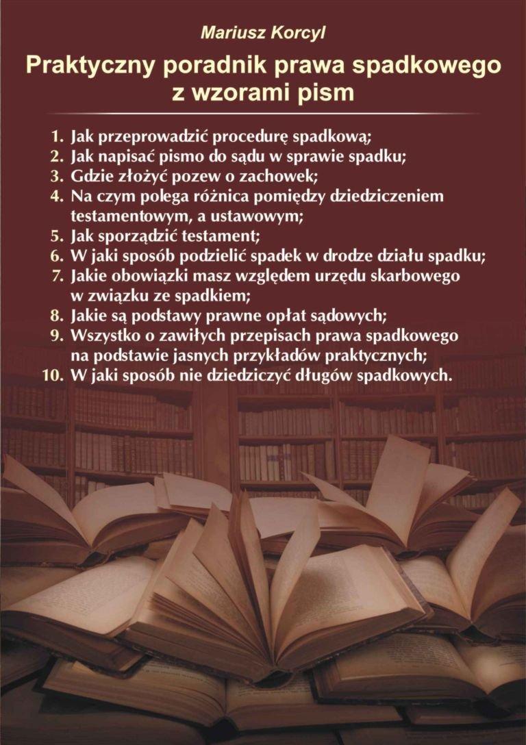Praktyczny poradnik prawa spadkowego - Ebook (Książka EPUB) do pobrania w formacie EPUB