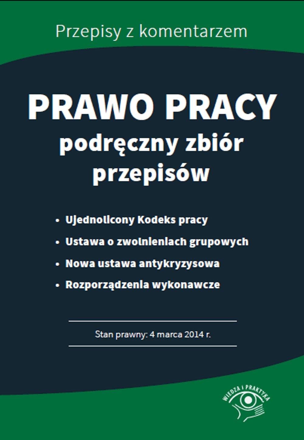 Prawo pracy - podręczny zbiór przepisów - Ebook (Książka PDF) do pobrania w formacie PDF