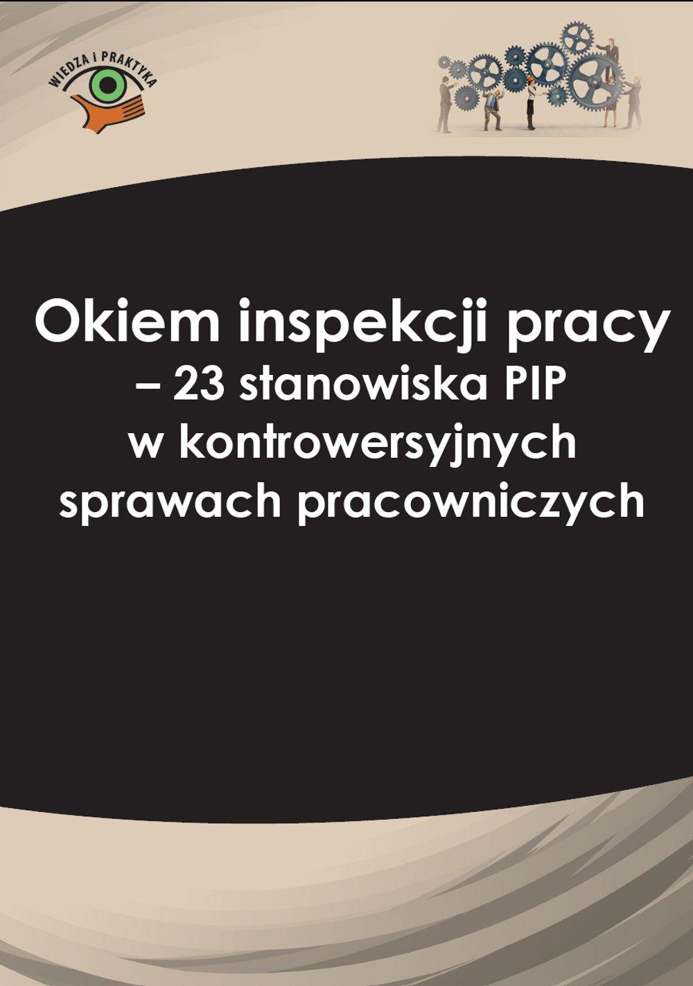 Okiem inspekcji pracy. 23 stanowiska PIP w kontrowersyjnych sprawach pracowniczych - Ebook (Książka PDF) do pobrania w formacie PDF