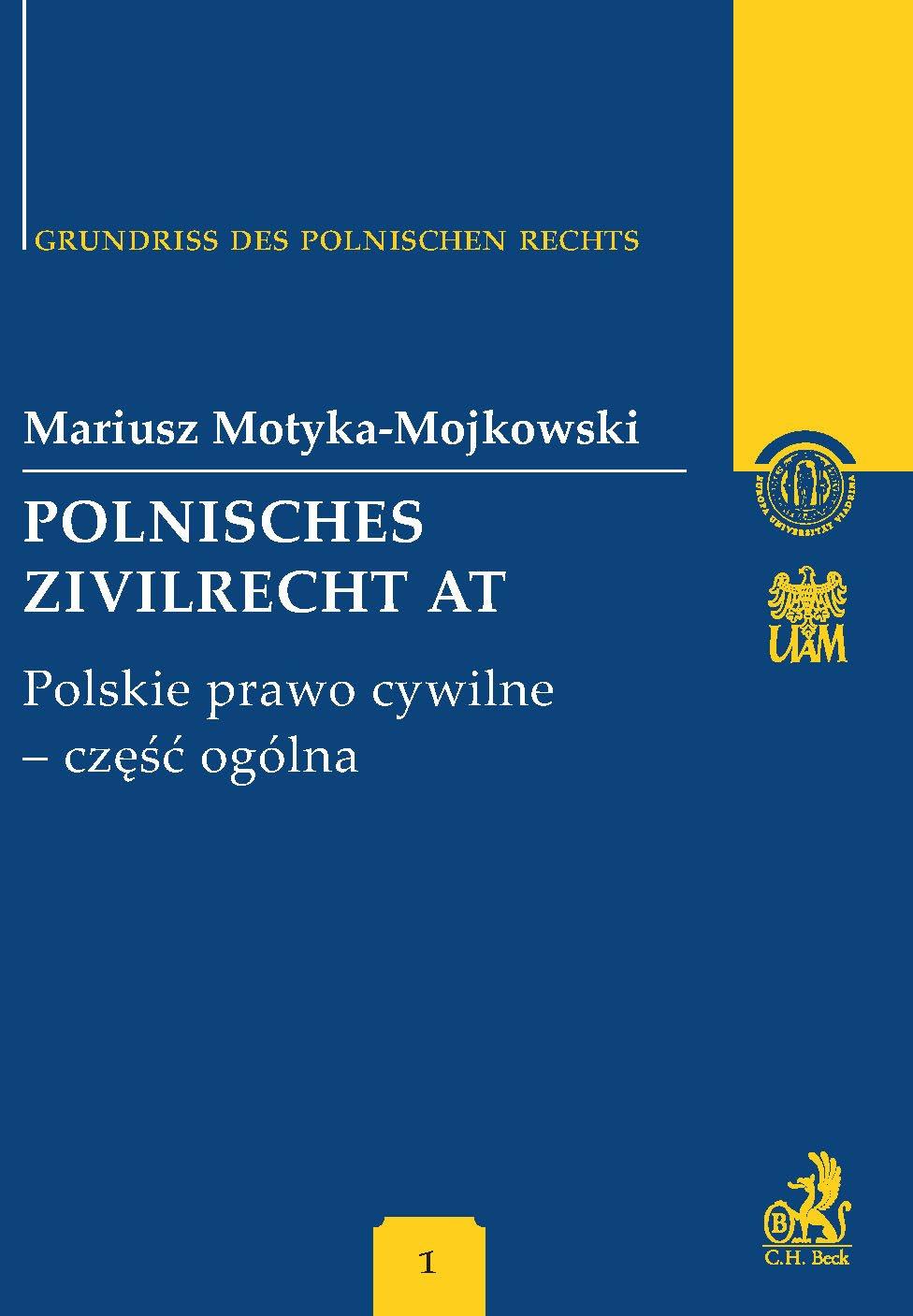 Polnisches Zivilrecht AT. Polskie prawo cywilne - część ogólna Band 1 - Ebook (Książka PDF) do pobrania w formacie PDF