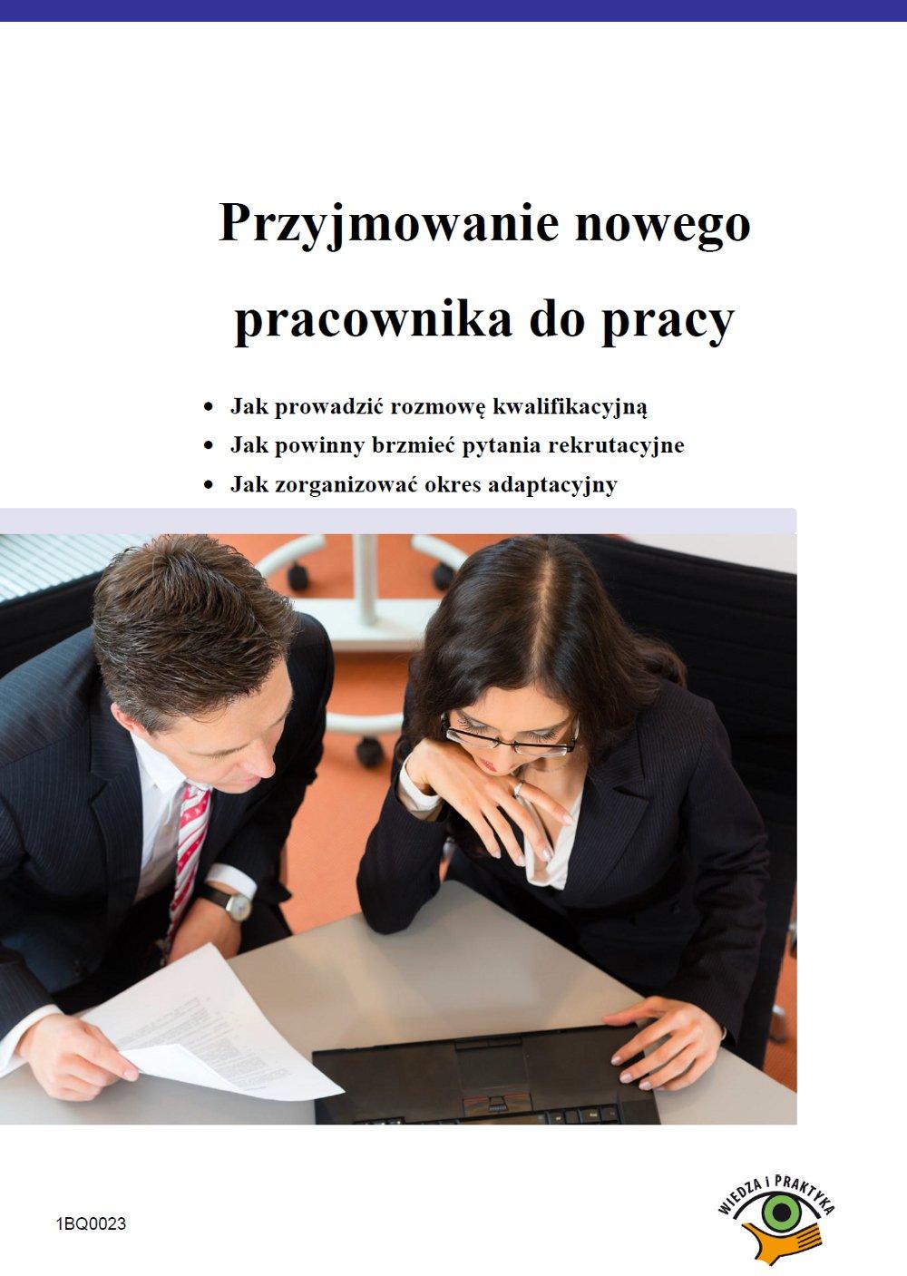 Przyjmowanie nowego pracownika do pracy - Ebook (Książka PDF) do pobrania w formacie PDF