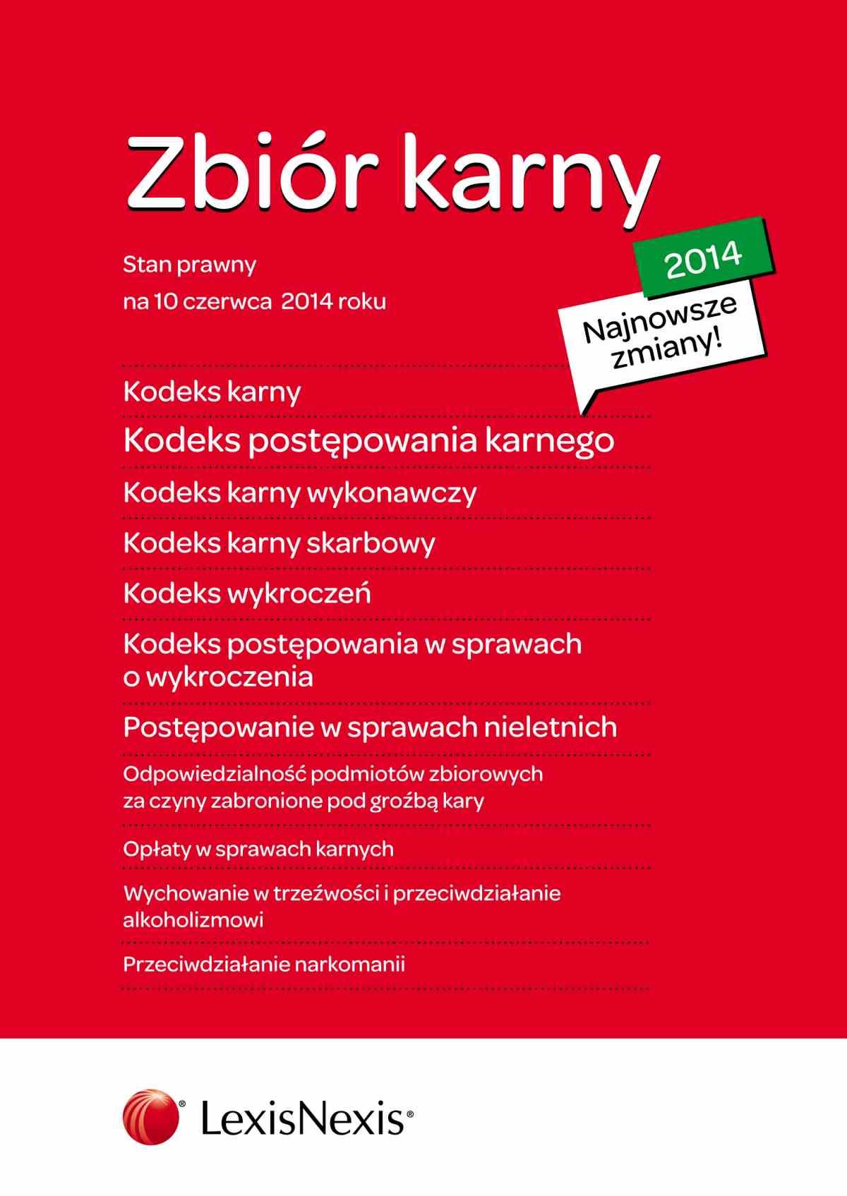 Zbiór karny 2014. Wydanie 3 - Ebook (Książka EPUB) do pobrania w formacie EPUB