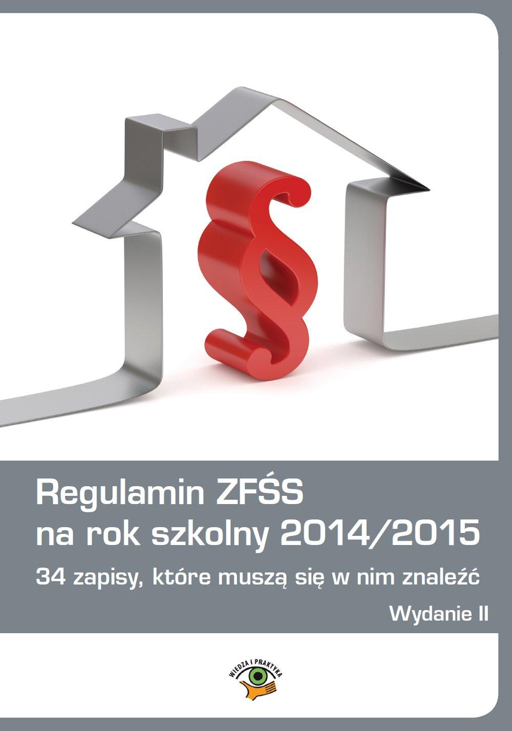 Regulamin ZFŚS na rok szkolny 2014/2015 - Ebook (Książka PDF) do pobrania w formacie PDF