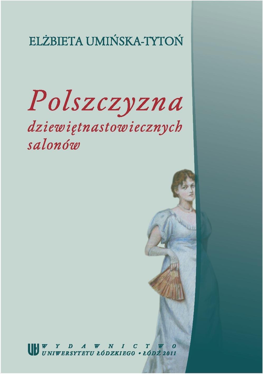 Polszczyzna dziewiętnastowiecznych salonów - Ebook (Książka PDF) do pobrania w formacie PDF