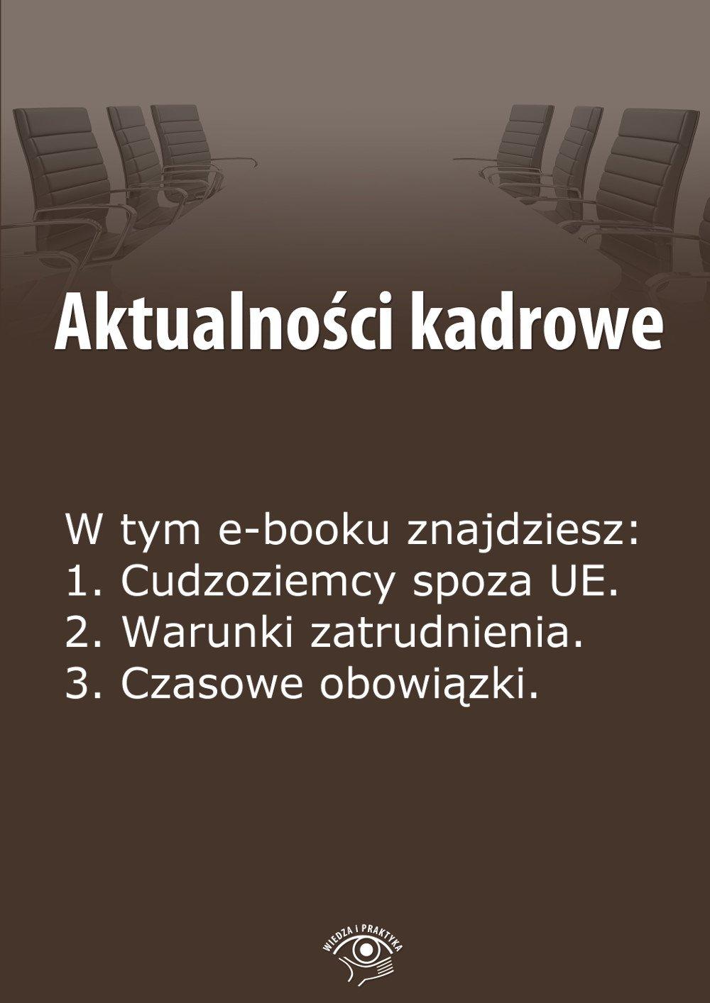 Aktualności kadrowe. Wydanie maj 2014 r. - Ebook (Książka EPUB) do pobrania w formacie EPUB