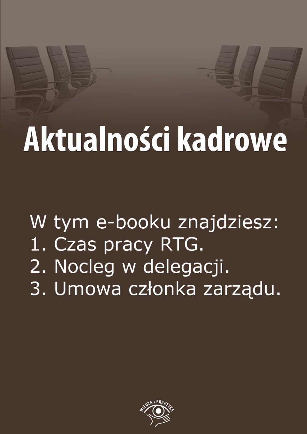 Aktualności kadrowe. Wydanie czerwiec 2014 r. - Ebook (Książka EPUB) do pobrania w formacie EPUB