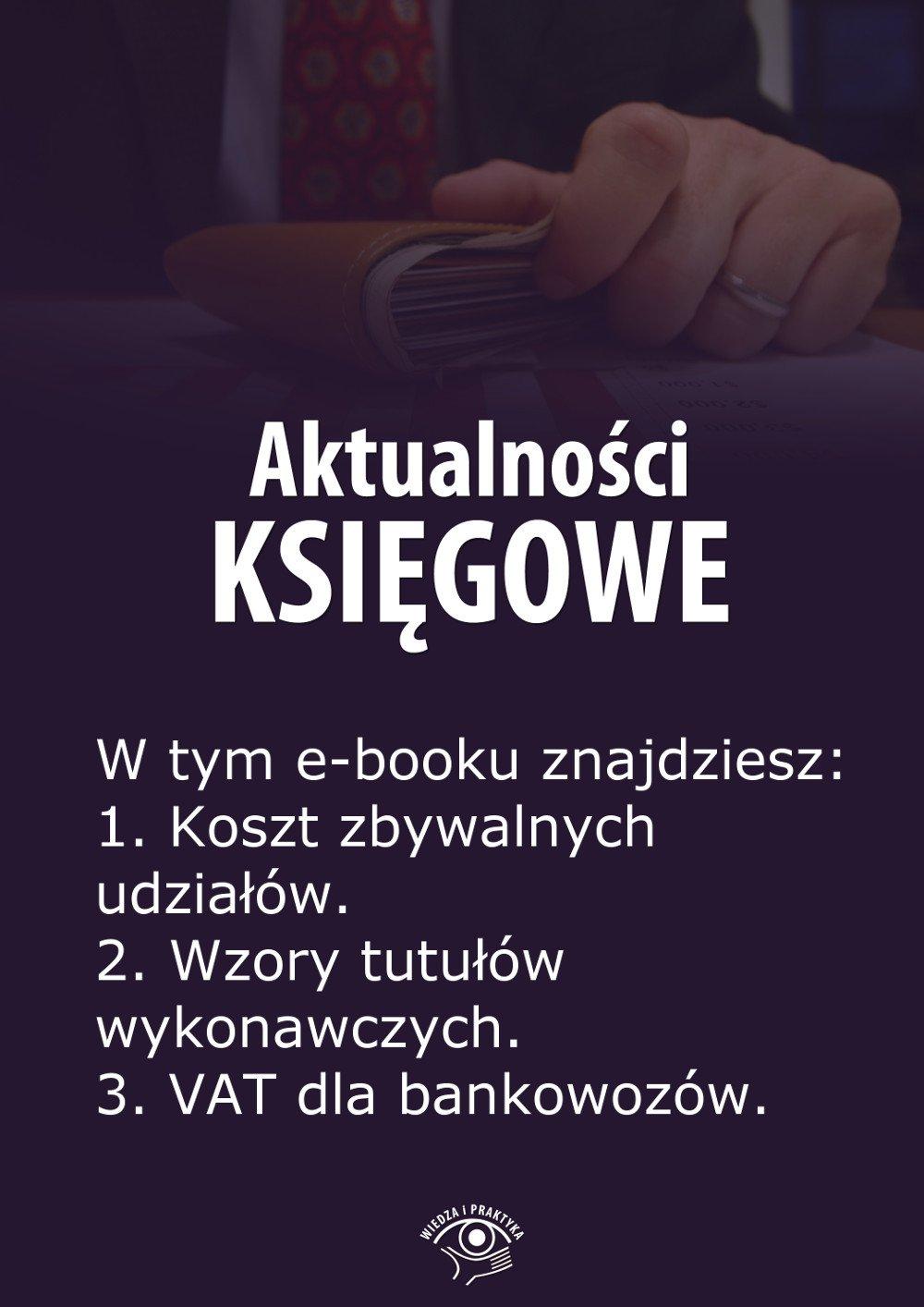 Aktualności księgowe. Wydanie maj 2014 r. - Ebook (Książka EPUB) do pobrania w formacie EPUB