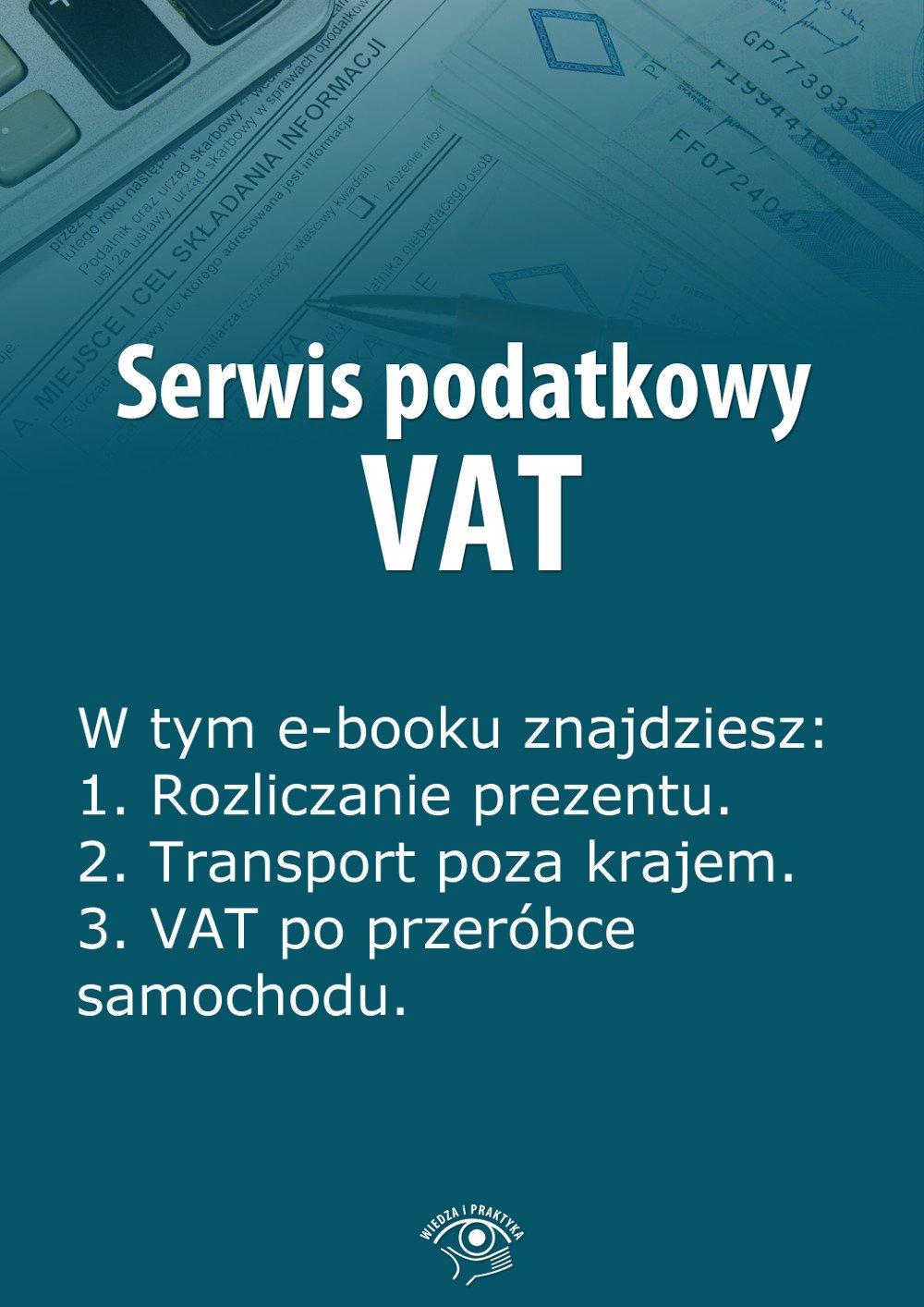 Serwis podatkowy VAT. Wydanie styczeń 2014 r. - Ebook (Książka EPUB) do pobrania w formacie EPUB
