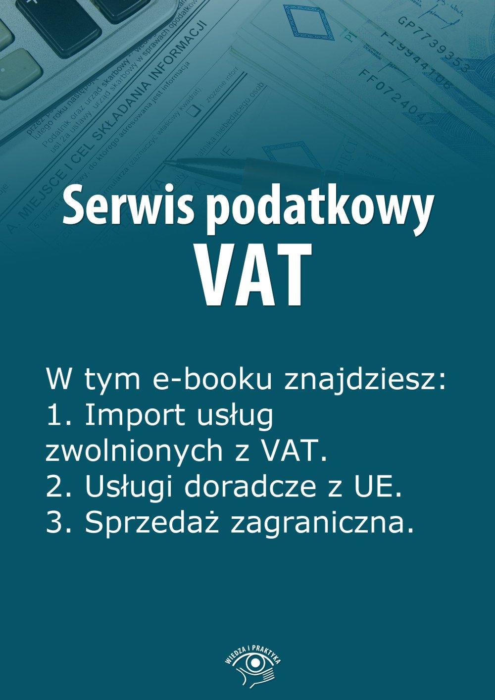 Serwis podatkowy VAT. Wydanie marzec 2014 r. - Ebook (Książka EPUB) do pobrania w formacie EPUB