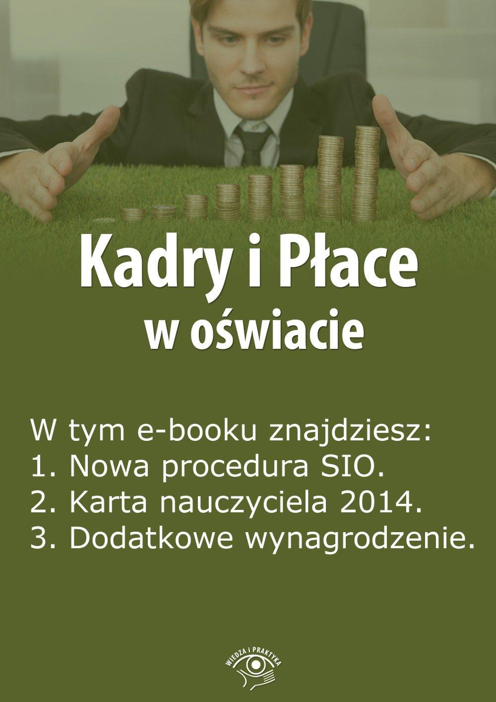 Kadry i Płace w oświacie. Wydanie luty 2014 r. - Ebook (Książka EPUB) do pobrania w formacie EPUB