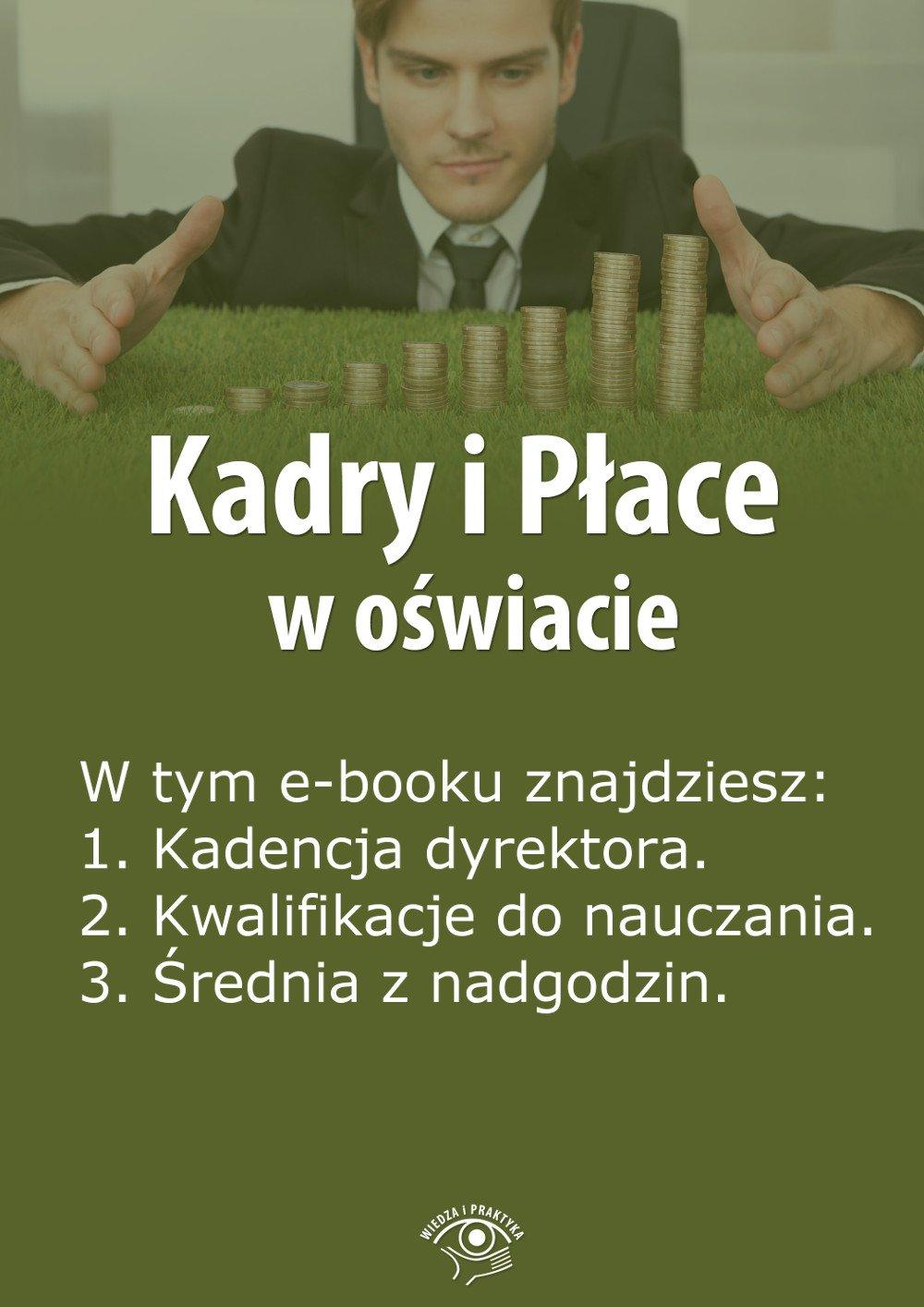Kadry i Płace w oświacie. Wydanie maj 2014 r. - Ebook (Książka EPUB) do pobrania w formacie EPUB